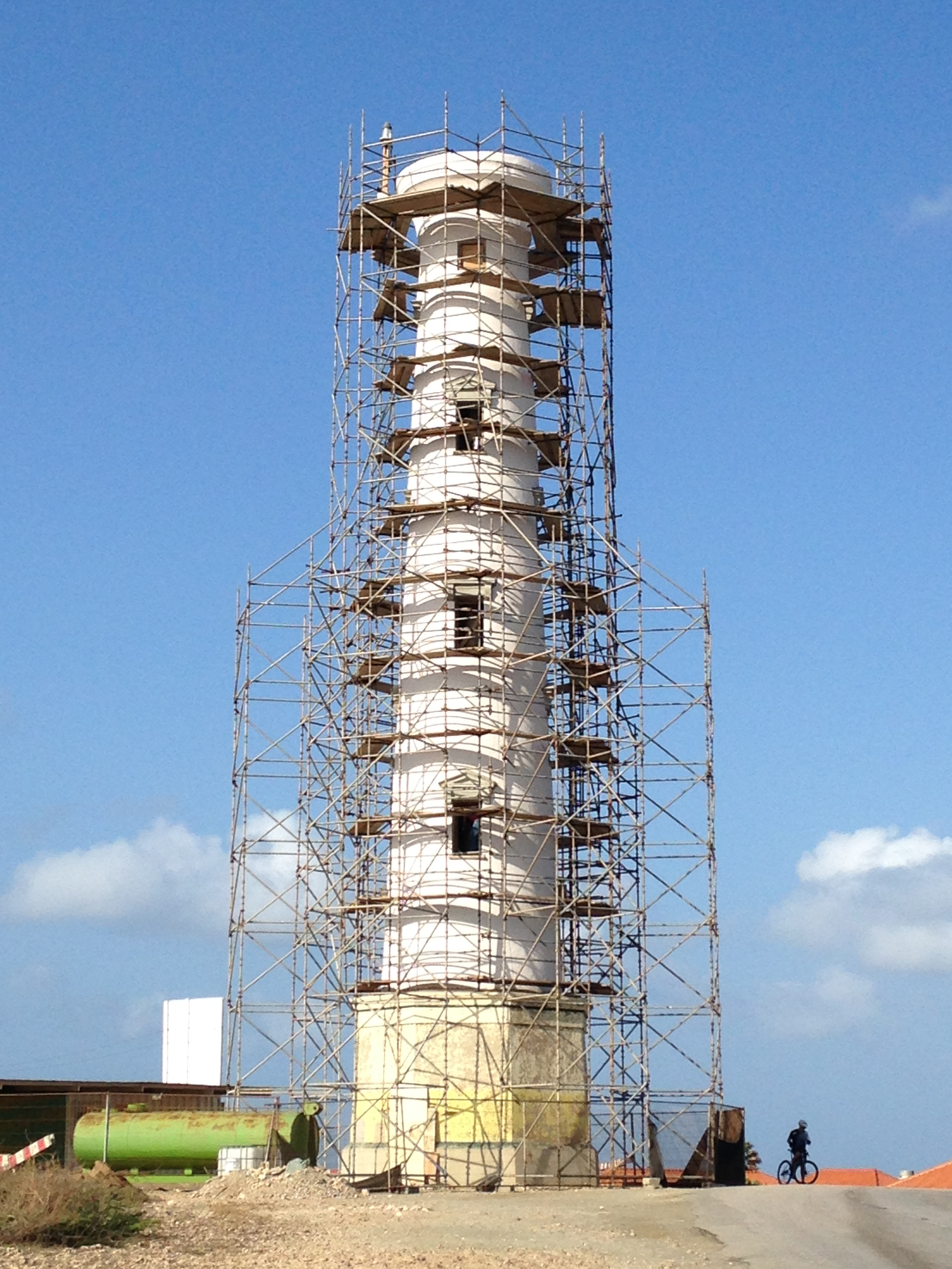 Restauration work currently going on on the California Lighthouse