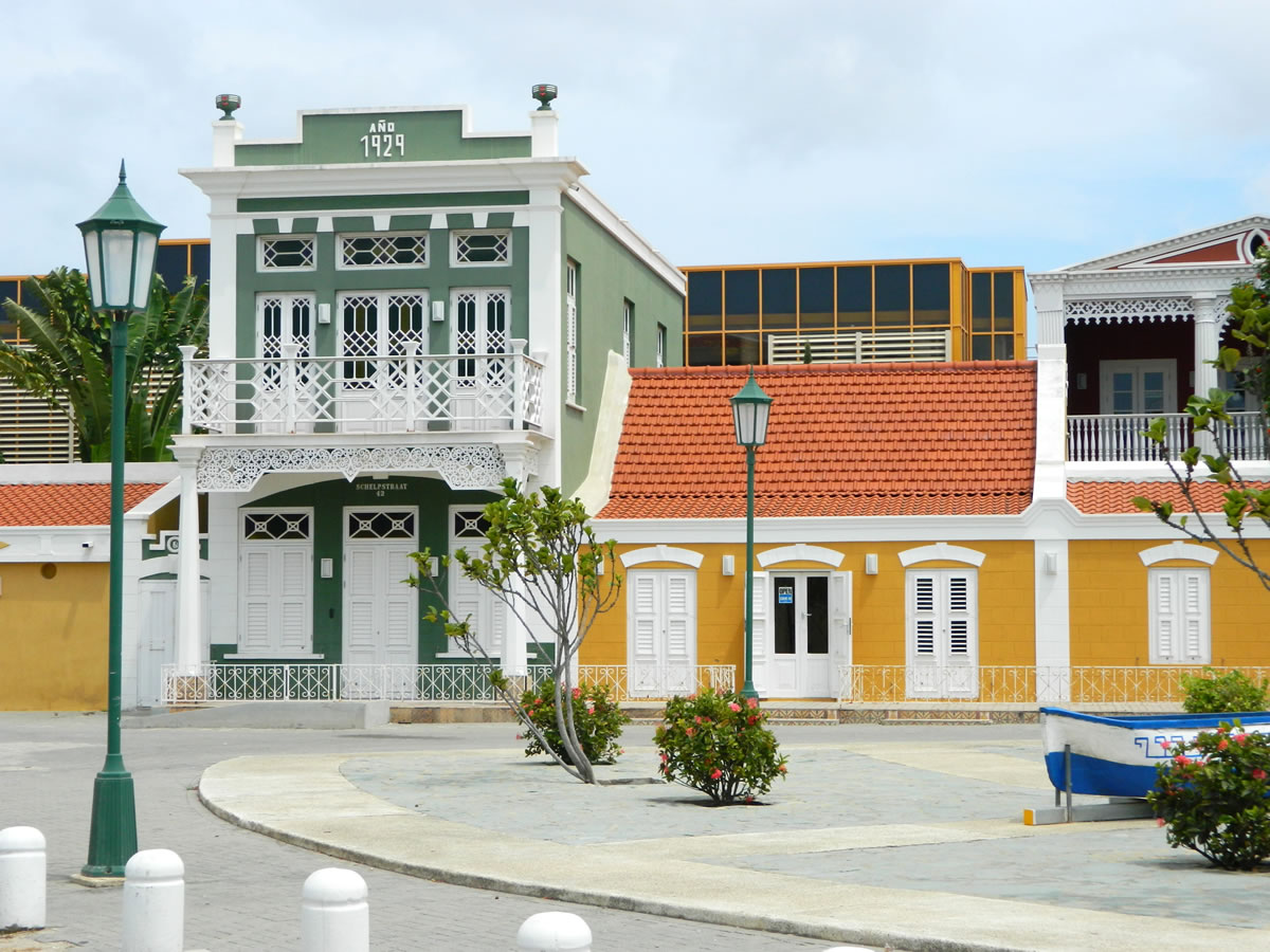 The Green 'Ecury' House | Archeological Museum Schelpstraat 42, Oranjestad