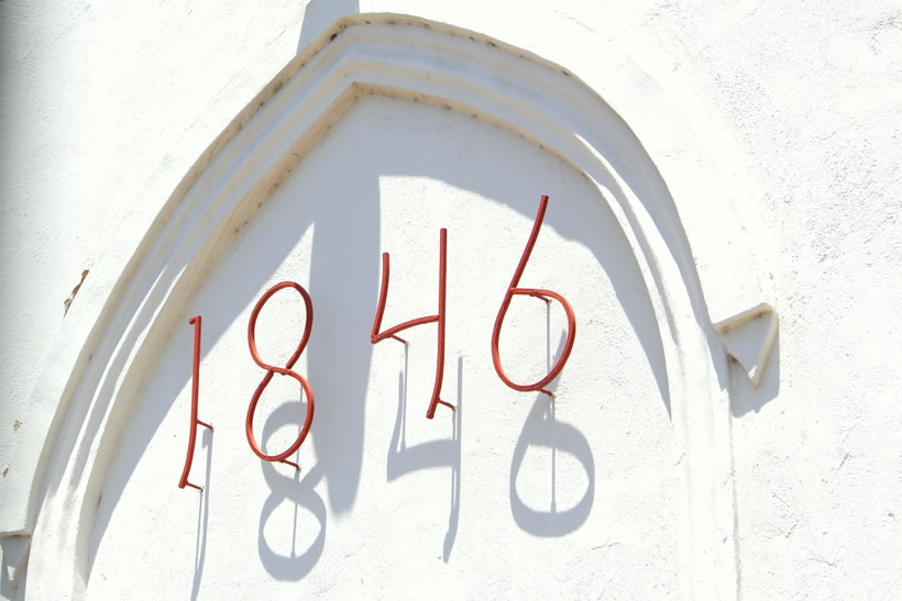 1846 the year the Protestant Church was built in Oranjestad
