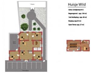 Huisje Wild Plattegrond 2