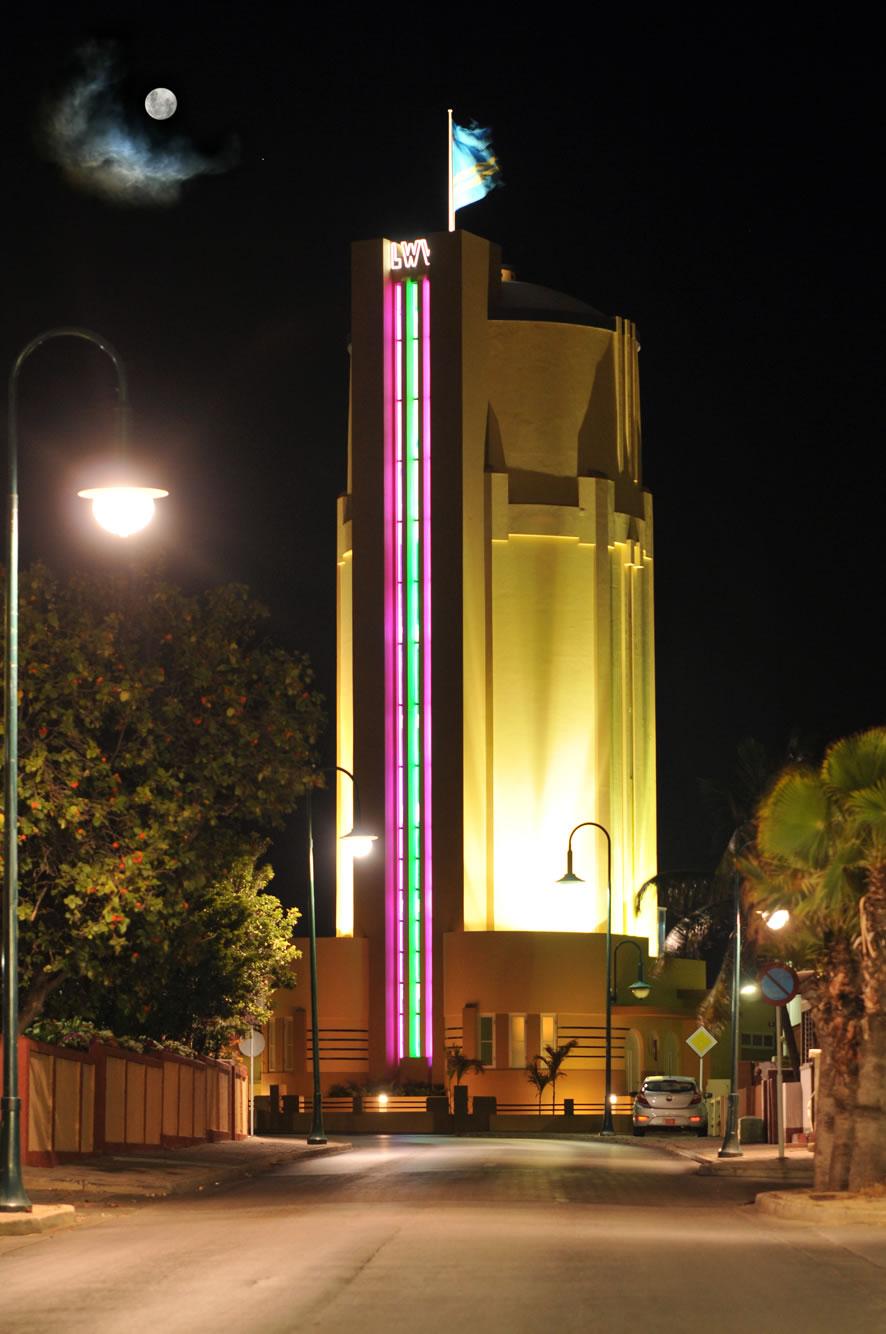 Water Tower San Nicolas by night