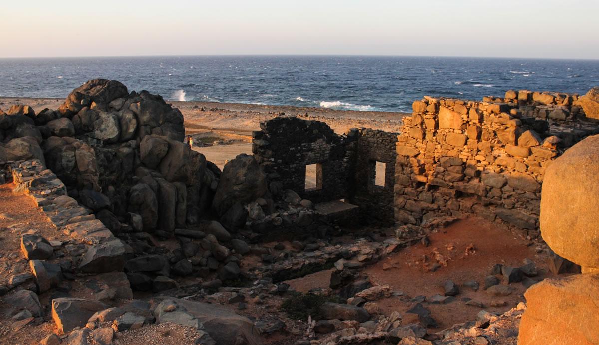 Bushiribana Goldmine at sunset