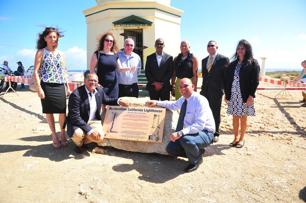 Transferring of the California Lighthouse to the Monumentsfund Aruba