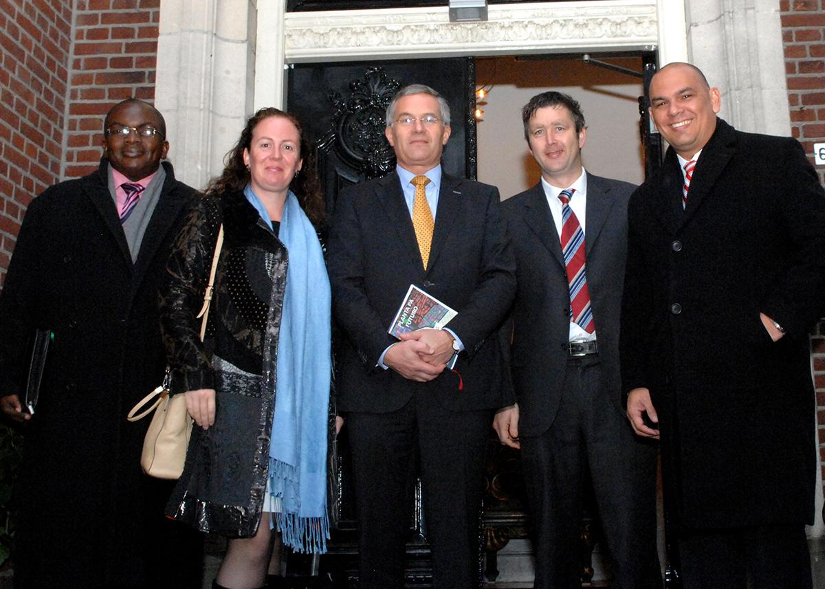 19-11-2014 bezoek van Minister de heer Otmar Oduber van Toerisme, Transport en Cultuur van Aruba Hoevelaken en Amsterdam.   Foto credit Jos v Leeuwen / Arubahuis